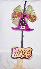"""Witches Broom """" The Witch Is In"""" 27"""" H: Costume -Prop Wall-Door-Fall Decoration"""