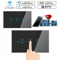 1/2/3 Gang Home Smart WiFi Wall Light Switch Touch Panel For Amazon Alexa Google