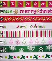 5 Metres Christmas Satin Ribbon 9mm (8 options U Pick) Craft Sewing Wrapping DIY