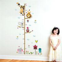 Meßlatte Kinder Kinderzimmer Wandtattoo Wandsticker Messlatte baby Tiere Affe