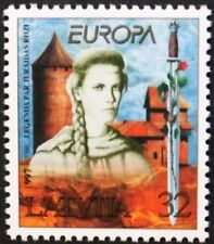Europa, tales and legends stamp, Turaidas Roze, 1997, Latvia, SG ref: 469, MNH