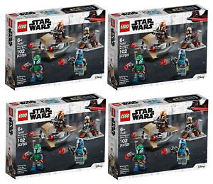 LOT of 4! LEGO Mandalorian BATTLE PACK Warriors 75267 Speeder STAR WARS Sealed!
