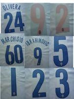 Juventus Fc Kit Personalizzazione Printing Nameset x maglia calcio tg 2004 06