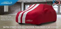 Mini Cooper Tailored Satin Stretch Indoor Car Cover from Coverking with Stripes