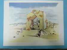 SALVADOR DALI - PARANOIAC VILLAGE  OFFSET LITHOGRAPH LASER SIGNED BY DALI
