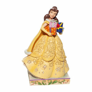 Disney Traditions Christmas Belle Jim Shore Figurine New with Box