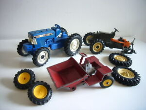 Britains: Ford & Fiat tractors and site dumper truck for spares, made in England