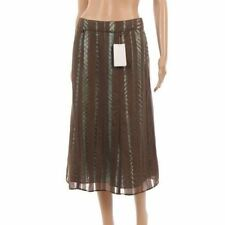 Calf Length Viscose Party A-line Skirts for Women