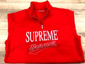 Supreme Forever Half Zip Up Sweatshirt SS19SW16