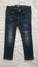 Seven 7 For All Mankind Girls Super Skinny Jeans Distressed Stretch Sz 4