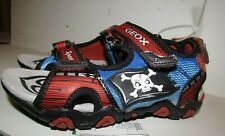 Geox sandals size 11.5, 12 black red blue Pirate light up shoes Nordstrom NEW