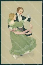 Dancing Couple Dondorf serie 330 postcard cartolina QT6243