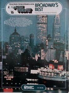 16 Broadway's Best EZ Play today SHEET MUSIC BOOK