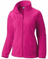 COLUMBIA Benton Springs Full Zip Fleece Jacket Women Plus 1X Haute Pink NWT