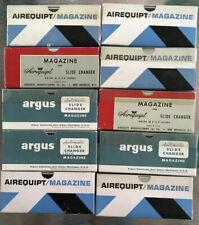Lot of 10 aluminum Argus Airequipt slide film holder magazines