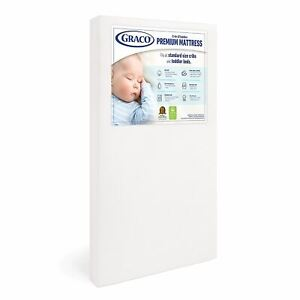 Graco Premium Foam Crib and Toddler Mattress, White – Ships Compressed in Lightw