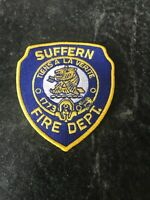 "Suffern NY Fire Department Logo Uniform Patch Vtg 5"" Rare Unused Orig Retro 80s"
