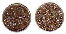 1 GROSZ 1938 POLONIA POLAND Fdc Unc #6885