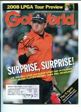 J.B. Holmes Signed 2008 Golf World Magazine Autographed PGA Golf PSA/DNA