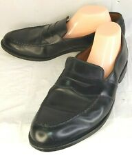 Allen Edmonds Randolph Black Leather Slip on Loafers 13 D Bench Welt USA 2590