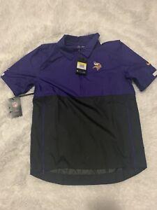 NEW Nike Minnesota Vikings On Field 1/4 Zip Pullover Jacket Purple Size S Small