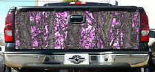 """TAILGATE GIRL CAMO DECAL MADE FROM 3M WRAP VINYL 66""""x27"""" MUDDY CAMO HOT PINK"""