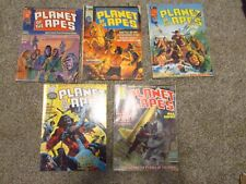 Planet of the Apes Lot of 5 Magazines: #1,2,4,18, and 28 (1975, Curtis)