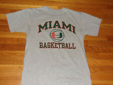 CHAMPION UNIVERSITY OF MIAMI BASKETBALL SHORT SLEEVE T-SHIRT MENS LARGE EXCELLEN