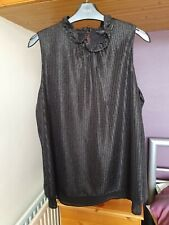 Black Evening Blouse Size 14