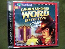 Broderbund Carmen Sandiego Word Detective Acme Agent Handbook Cd-Rom Ages 6 -14