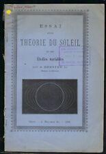 Brester The�orie du soleil et des etoiles. 1893. Ex Lick Observatory Coll