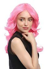 Perücke Dame Karneval Fasching Volumen Wellig Mittelscheitel Pink Rosa Diva Drag