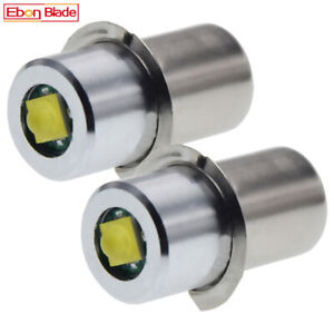 2 X P13.5S 18V Torch Cree 3W LED Bulbs Flashlight Torch Lamp For Maglite Focus