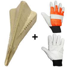 More details for 4 way log grenade fire wood splitter maul wedge spike + safety gloves size 10