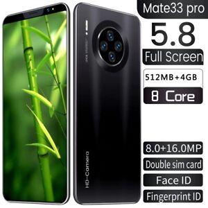 Mate33 Pro Smartphone 8 core - 5.8 Inch Screen Dual SIM + 4 cameras