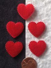 20 Hearts Red Fabric heart Valentines Valentine Wedding scrapbook cards confetti