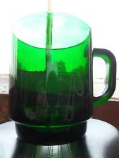 Vintage Emerald Forest Green Glass Coffee Tea Cup Mug