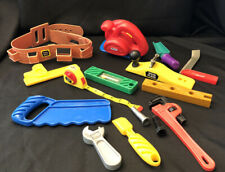 Little Tikes Tools Power Saw Tool Belt Level Square Screwdriver Mixed Lot