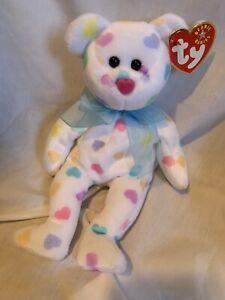 "RARE VINTAGE TY Beanie Baby ""Kissme The Valentines Day Bear"""