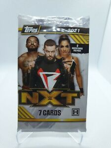 Topps WWE NXT 2021 Sealed Hobby Pack of 7 Cards