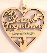 PERSONALISED 30TH YEAR ANNIVERSARY PLAQUE - ENGRAVED WITH YOUR OWN WORDING