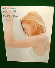 YOU'LL SEE, MADONNA on Cover, 1995 Sheet Music, DAVID FOSTER, VG. No Tape