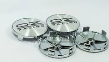 4x68mm Oz Racing Silver Black Wheel Center Caps Rim Caps Emblems Hubcaps Badges