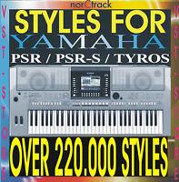 YAMAHA STYLES PSR  640 740 1000 1100 2000 2100 3000 8000 9000 Tyros Genos SX900