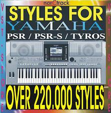 YAMAHA STYLES PSR 540 550 640 740 1000 1100 2000 2100 3000 8000 9000 Tyros 1 2 3