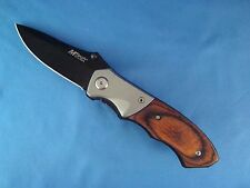 MT411 Couteau Gentleman Mtech Lame Acier 440 Manche Bois  Couteau Gentleman Mtec