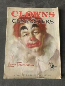 CLOWNS and CHARACTERs Drawing Book by Leon Franks #62 Walter T Foster Series