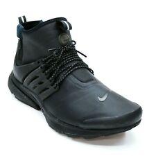Nike Men's 12 Presto Utility Triple Black Side-zip Mid Ankle Sneakers 859524-003