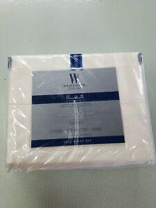 Wamsutta 500-Thread-Count PimaCott Full Sheet Set in Ivory Stripe