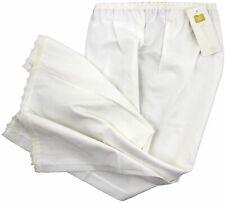 "JD COLLECTION 100% Cotton HALF SLIP Elasticated Waist CREAM 26"" Length   20/22"